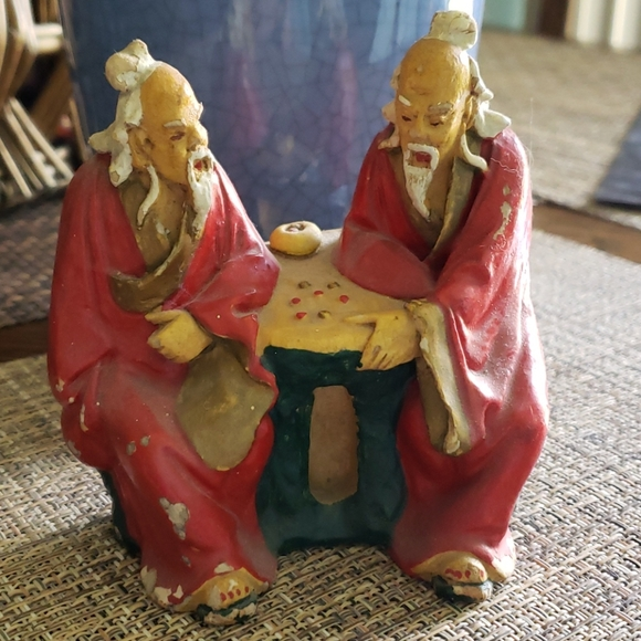 None Other - Antique Japanese men statue